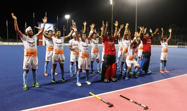 Indian Junior Men's Hockey Team in action during the Sultan of Johor Cup, Malaysia