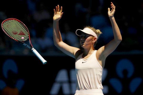Marta Olehivna Kostyuk from Ukraine makes it to the third round of the Australian Open