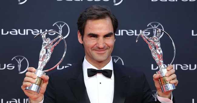 Roger Federer wins Sportsman and Comeback of the Year at Laureus Awards