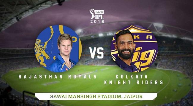 IPL 2018 Live Streaming: Rajasthan Royals vs Kolkata Knight Riders